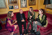 Sabrina Guinness; Brian Eno; katherine Poulton; Lily Cole, BRIONI FRAGRANCE LAUNCH. Annabels. Berkeley Sq. London. 14 October 2009.