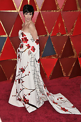 Paz Vega walking on the red carpet during the 90th Academy Awards ceremony, presented by the Academy of Motion Picture Arts and Sciences, held at the Dolby Theatre in Hollywood, California on March 4, 2018. (Photo by Sthanlee Mirador/Sipa USA)