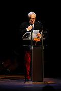 Cees  Nooteboom tijdens uitreiking van de Prins Bernhard Cultuurfonds Prijs 2011 aan Anton Corbijn<br /> <br /> Cees Nooteboom during presentation of the Prince Bernhard Culture Prize 2011 to Anton Corbijn