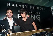 MARK JACOBS; JESUS LUZ, Mark Jacobs' Bang' fragrance preview. Harvey Nicholls. London. 22 July 2010. -DO NOT ARCHIVE-© Copyright Photograph by Dafydd Jones. 248 Clapham Rd. London SW9 0PZ. Tel 0207 820 0771. www.dafjones.com.