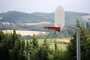 rural basketball field
