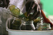 Fanny Johnson loves to make her pickles sweet. She washes, soaks, slices her cucumbers before adding the sweet pickling juices to jars that will last her throughout the year.
