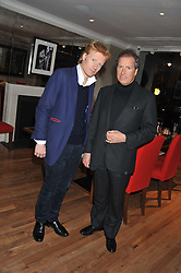 A reception in honour of David Linley to recognise his ambassadorial role for Ruinart Champagne held at Linley, Pimlico Road, London on 24th October 2012.<br /> Picture shows:-Left to right, JAMIE EDMISTON and DAVID LINLEY.