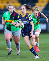 Abi Kershaw of Worcester Warriors Women surges towards the line - Mandatory by-line: Nick Browning/JMP - 20/12/2020 - RUGBY - Sixways Stadium - Worcester, England - Worcester Warriors Women v Harlequins Women - Allianz Premier 15s