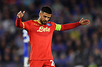 Football - 2021 / 2022 UEFA Europa League - Group C, Round One - Leicester City vs Napoli - King Power Stadium - Thursday 16th September 2021<br /> <br /> Napoli's Lorenzo Insigne frustrated as they miss another first half chance.<br /> <br /> COLORSPORT/Ashley Western