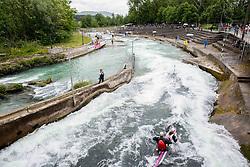 ICF Kayak & Canoe Slalom race in Semifinal of Tacen 2014 competition on May 18, 2014 in Tacen, Ljubljana, Slovenia. Photo by Vid Ponikvar / Sportida