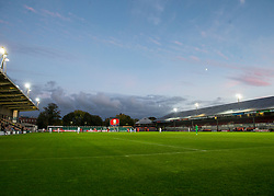 NEWPORT, WALES - Tuesday, October 16, 2018: A GV of the stadium during the UEFA Under-21 Championship Italy 2019 Qualifying Group B match between Wales and Switzerland at Rodney Parade. (Pic by Laura Malkin/Propaganda)