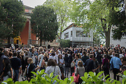 OPENING THE SARAH LUCAS EXHIBITION AT THE BRITISH PAVILION, Venice Biennale, Venice. 6 May 2015