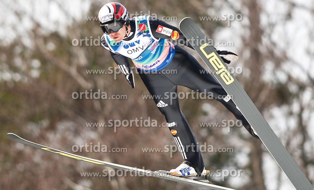 21.03.2010, Planica, Kranjska Gora, SLO, FIS SKI Flying World Championships 2010, Flying Hill Team, im Bild DAMJAN Jernej, ( SLO ), EXPA Pictures © 2010, PhotoCredit: EXPA/ J. Groder / SPORTIDA PHOTO AGENCY