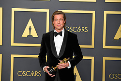 February 9, 2020, Los Angeles, California, USA: BRAD PITT in the Press Room during the 92nd Academy Awards, presented by the Academy of Motion Picture Arts and Sciences (AMPAS), at the Dolby Theatre in Hollywood. (Credit Image: © Kevin Sullivan via ZUMA Wire)