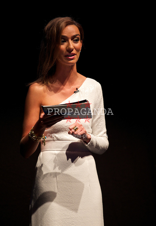 CARDIFF, WALES - Monday, August 11, 2014: BBC Presenter Rosa Pinto at a gala dinner held at the Millennium Centre ahead of the UEFA Super Cup in Cardiff. (Pic by David Rawcliffe/Propaganda)