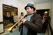 At the local centre for elderly people, the brass band plays the ?Danca dos Cus? (Butt Dance) valse for those who are unable to go outside but still want to somehow enjoy the carnival.