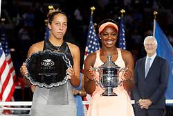 09.09.2017, Nowy Jork, Turniej tenisowy wielkoszlemowy US Open, Sloane Stephens (USA),  Madison Keys (USA) fot. Ewa Janikowski / Foto Olimpik<br />/// POLAND & FRANCE OUT