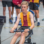 Zachary Conayne MALE HEAVYWEIGHT Novice U19 2K Race #5 09:30am<br /> <br /> <br /> www.rowingcelebration.com Competing on Concept 2 ergometers at the 2018 NZ Indoor Rowing Championships. Avanti Drome, Cambridge,  Saturday 24 November 2018 © Copyright photo Steve McArthur / @RowingCelebration