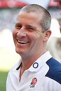 Picture by Andrew Tobin/Tobinators Ltd +44 7710 761829.26/05/2013.England head coach Stuart Lancaster looks on after beating the Barbarians 40-12 during the match between England and the Barbarians at Twickenham Stadium, Twickenham.