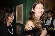 LADY DAVIES; ALISSON DAVIES, Pedro Girao of Christies and Duncan Macintyre of Lombard Odier host the last dinner at the Old Annabels. 44 Berkeley Sq. London. 15 November 2018