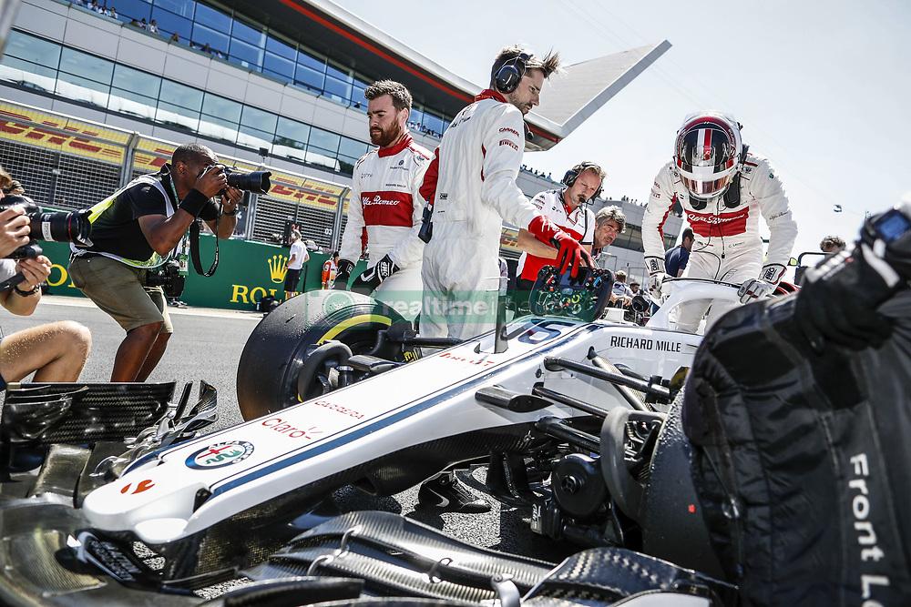 July 8, 2018 - Silverstone, Great Britain - Motorsports: FIA Formula One World Championship 2018, Grand Prix of Great Britain, .#16 Charles Leclerc (MCO, Alfa Romeo Sauber F1 Team) (Credit Image: © Hoch Zwei via ZUMA Wire)