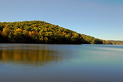 08 October 2013:   Lake Yellowwood in Yellowwood State Forest.<br /> <br /> Yellowwood State Forest was created on leased federal land in 1940.  It was later (1956) deeded to the state of Indiana.  More than 2000 vacant and eroded acres were planted with pine, black locust, black walnut, and red and white oak.  Yellowwood Lake is 133 acres and about 30 feet deep.<br /> <br /> This image was produced in part utilizing High Dynamic Range (HDR) processes. It should not be used editorially without being listed as an illustration or with a disclaimer. It may or may not be an accurate representation of the scene as originally photographed and the finished image is the creation of the photographer.