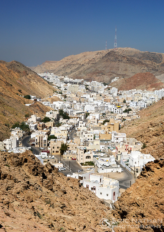 View of Al Hamria, a suburb of Muscat, the capital of the Sultanate of Oman.
