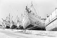 Fishermen in Jakarta still use these old, wooden ships at the Jakarta main harbor, Sunda Kelapa.