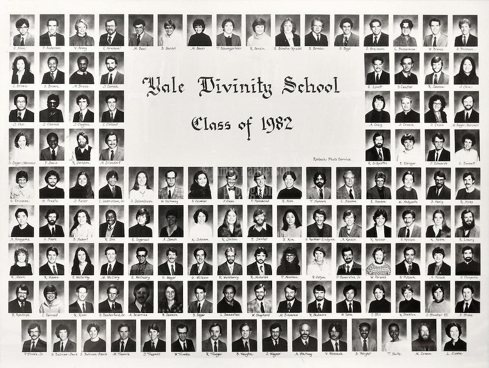 1982 Yale Divinity School Senior Portrait Class Group Photograph