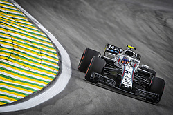 November 9, 2018 - Sao Paulo, Brazil - 35 SIROTKIN Sergey (rus), Williams F1 Mercedes FW41, action during the 2018 Formula One World Championship, Brazil Grand Prix from November 08 to 11 in Sao Paulo, Brazil -  FIA Formula One World Championship 2018, Grand Prix of Brazil World Championship;2018;Grand Prix;Brazil  (Credit Image: © Hoch Zwei via ZUMA Wire)