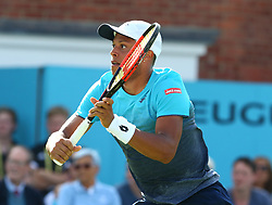 June 18, 2018 - London, England, United Kingdom - Jay Clarke (GBR).during Fever-Tree Championships 1st Round match between Sam Querrey (USA) against Jay Clarke (GBR) at The Queen's Club, London, on 18 June 2018  (Credit Image: © Kieran Galvin/NurPhoto via ZUMA Press)