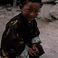 CHINA, TIBET. Village boy in Lunang Valley, probably of Memba descent.