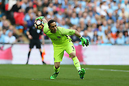 Claudio Bravo, the Manchester city goalkeeper in action. The Emirates FA Cup semi-final match, Arsenal v Manchester city at Wembley Stadium in London on Sunday 23rd April 2017.<br /> pic by Andrew Orchard,  Andrew Orchard sports photography.