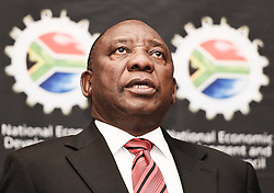 Deputy President Cyril Ramaphosa today addressed the Annual NEDLAC Summit at the Birchwood Hotel, Boksburg. The Summit, organised under the theme, Rapid Growth to create decent jobs, is attended by top business, labour, government and community leaders,  09 September 2016. Siyasanga Mbambani..