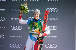 ODERMATT Marco of Switzerland celebrates during trophy ceremony after the Audi FIS Alpine Ski World Cup Men's Giant Slalom 58th Vitranc Cup 2019 on March 9, 2019 in Podkoren, Kranjska Gora, Slovenia. Photo by Peter Podobnik / Sportida