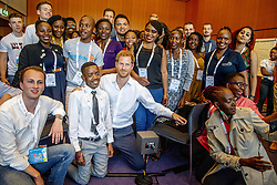 Prince Harry, the Duke of Sussex meets with youth delegates from his charity Sentebale at the International Aids Conference at the RAI Amsterdam Convention Centre to support the continuing fight against the HIV virus. Amsterdam, Netherlands, on Monday July 23, 2018. Harry joined the young advocates using the opportunity to discuss issues faced by teenagers who have the disease. Photo by Robin Utrecht/ABACAPRESS.COM