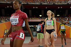 26-08-2015 CHN: IAAF World Championships Athletics day 5, Beijing<br /> Maja Mihalinec SLO (R) on the 200 m<br /> Photo by Ronald Hoogendoorn / Sportida