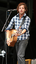 James Morrison plays on the main stage at T in the Park, Saturday 7 July 2007..T in the Park festival took place on the 6th, 7th and 8 July 2007, at Balado, near Kinross in Perth and Kinross, Scotland. This was the first time the festival had been held over three days..Pic ©2011 Michael Schofield. All Rights Reserved..