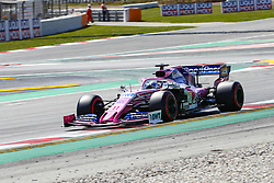 May 11, 2019 - Barcelona, Catalonia, Spain - Racing Point BWT Mercedes driver Sergio Perez (11) of Mexico during F1 Grand Prix qualifying celebrated at Circuit of Barcelona 11th May 2019 in Barcelona, Spain. (Credit Image: © Mikel Trigueros/NurPhoto via ZUMA Press)