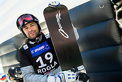 Rok Flander (SLO) posing after his farewell run in Men's Parallel Giant Slalom of FIS Snowboard World Cup Rogla 2017, on January 28, 2017 at Course Jasa, Rogla, Slovenia. Photo by Vid Ponikvar / Sportida