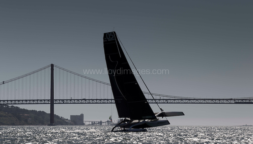 La Route des Princes. Lisbon. Portugal.<br /> Spindrift Racing in action close to the city today<br /> <br /> Credit: Lloyd Images