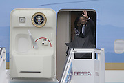 March 20, 2016 - Havana, Cuba - U.S. President BARACK OBAMA and First Lady MICHELLE OBAMA prepare to deplane from Air Force One after arrival at Jose Marti International Airport for an official three-day visit to the nation of Cuba.<br /> ©Exclusivepix Media