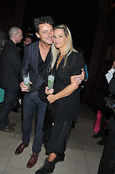 JEREMY HEALY and EMMA WOOLLARD at a party to celebrate the launch of the Tara Smith Vegan Haircare range held at Sketch, 9 Conduit Street, London on 26th September 2012.