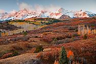 Sneffels Range morning light from Dallas Divide in autumn, Ridgeway, CO, USA