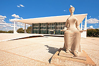 The Supreme Court  is the highest instance of the Judiciary Power in Brazil.The sculpture in front of the Court is called A Justiça (The Justice), a piece by Alfredo Ceschiatti