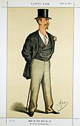 Eyre Massey Shaw (1830-1908) 'Captain Shaw'. Head of London Metropolitan Fire Brigade 1861-91. Cartoon by 'Ape' (Carlo Pellegrini) from 'Vanity Fair', London, 3 June 1871.