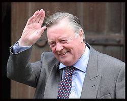 Justice Secretary Kenneth Clarke arriving at the Leveson Inquiry in London, Wednesday, 30th May 2012.  Photo by: Stephen Lock / i-Images