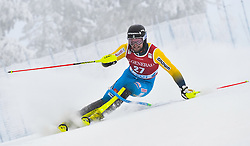 13.11.2016, Black Race Course, Levi, FIN, FIS Weltcup Ski Alpin, Levi, Salalom, Herren, 1. Lauf, im Bild Anton Lahdenperae (SWE) // Anton Lahdenperae of Sweden in action during 1st run of mens Slalom of FIS ski alpine world cup at the Black Race Course in Levi, Finland on 2016/11/13. EXPA Pictures © 2016, PhotoCredit: EXPA/ Nisse Schmidt<br /> <br /> *****ATTENTION - OUT of SWE*****