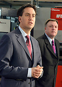 © Licensed to London News Pictures. 27/11/2012. Stevenage, UK ED BALLS (right), ED MILIBAND talk. Ed Miliband MP, Leader of the Labour Party and Ed Balls MP, Labours Shadow Chancellor hold a joint question and answer session at Propak Sheet Metal LTD in Stevenage, today 27th November 2012, ahead of the Autumn Statement. Photo credit : Stephen Simpson/LNP