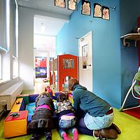 Nederland, Haarlem , 4 februari 2013..Bedrijfsverzamelgebouw de Greiner..zoals bv een kinderdagverblijf.Foto:Jean-Pierre Jans