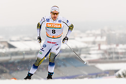 February 9, 2019 - Lahtis, FINLAND - 190209   Viktor Thorn of Sweden competes in the men's sprint qualification during the FIS Cross-Country World Cup on February 9, 2019 in Lahti..Photo: Johanna Lundberg / BILDBYRN / 135947 (Credit Image: © Johanna Lundberg/Bildbyran via ZUMA Press)