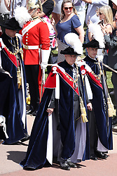 The Earl of Wessex (right), the Duke of York (centre), the Duke of Cambridge (left) during the annual Order of the Garter Service at St George's Chapel, Windsor Castle.