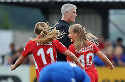 Goal scorer Olivia Fergusson of Bristol City Women wheels away - Mandatory by-line: Paul Knight/JMP - 24/09/2016 - FOOTBALL - Stoke Gifford Stadium - Bristol, England - Bristol City Women v Durham Ladies - FA Women's Super League 2