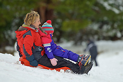 Having fun in the snow at the Cairngorm Ski Area as Storm Doris hits the UK. 24 Feb 2017 (c) Brian Anderson   Edinburgh Elite media